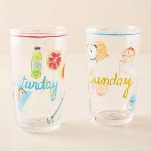 Anthropologie Saturday Sunday Weekend Juice Glass